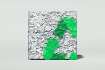 green triangle white element design isolated