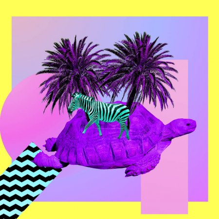 background, holiday, bright, art, palm, summer - B260083330