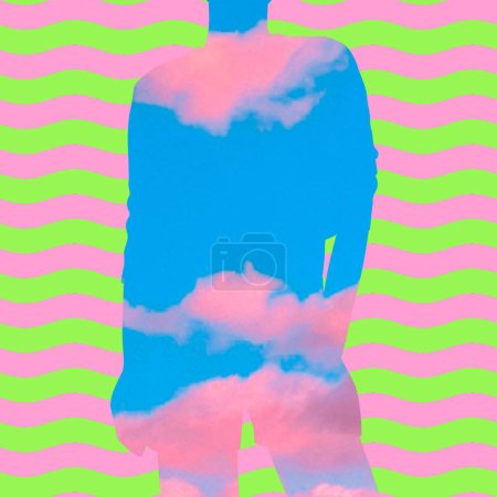 background sky bright art party girl
