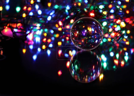 green, color, sphere, lights, red, yellow - B381871636