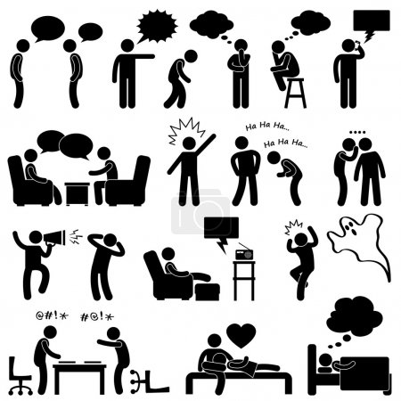 vector, illustration, set, surprise, person, sign - B11245516