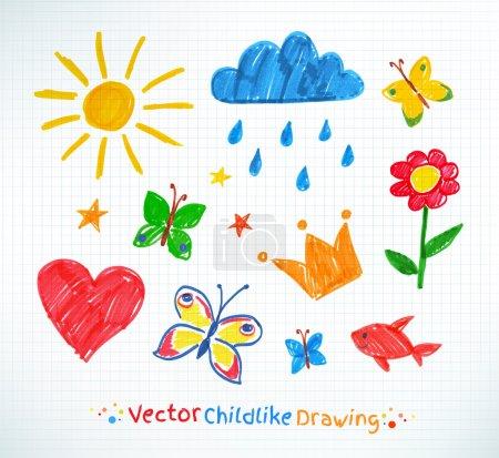 color, vector, background, illustration, set, paper - B69098241