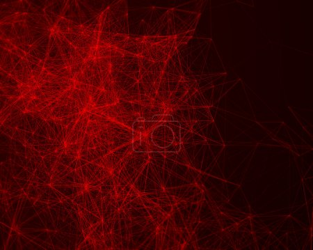 red triangle computer background illustration design