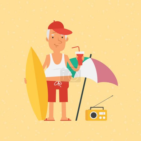 leisure color activity fun objects vector