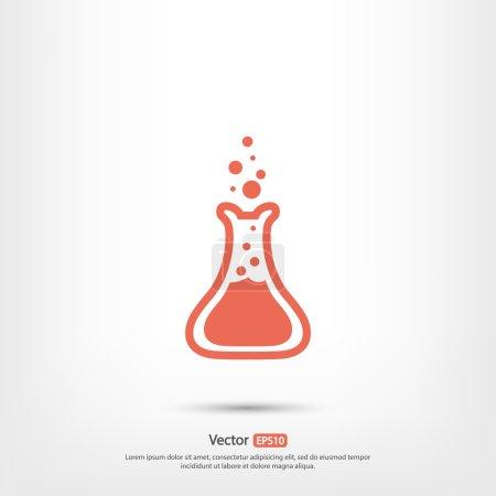 vector, illustration, glass, transparent, equipment, liquid - B80795910