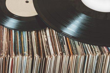 horizontal foreground studio label old retro