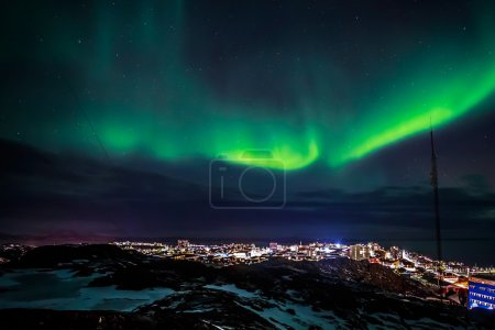 green color lights backgrounds sky christmas