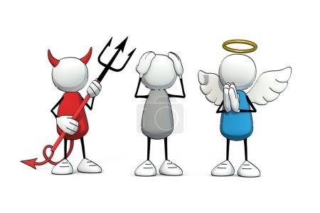 red, white, blue, illustration, person, man - B73782957