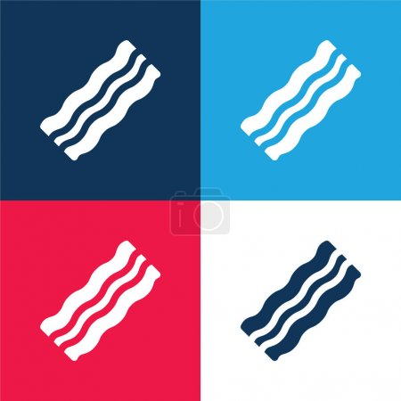 red, blue, vector, set, food, icon - B471086990