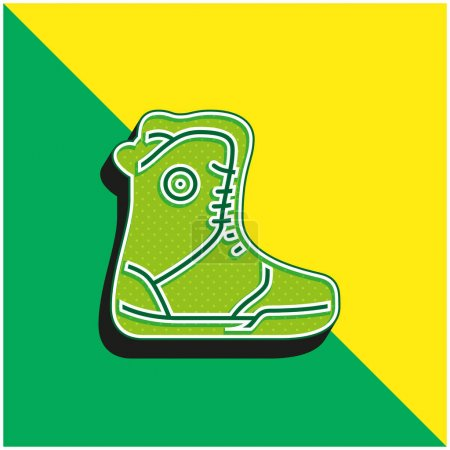 green, yellow, vector, sports, boots, 3d - B470828770