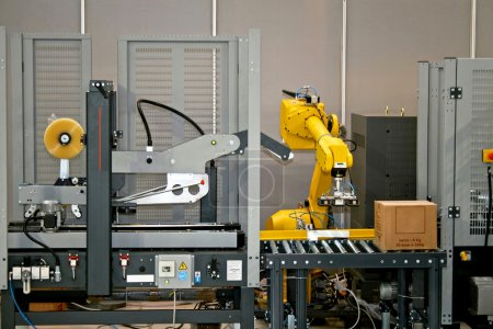 yellow design pack box package equipment