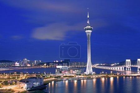 lights, blue, gambling, view, sky, reflection - B6043070